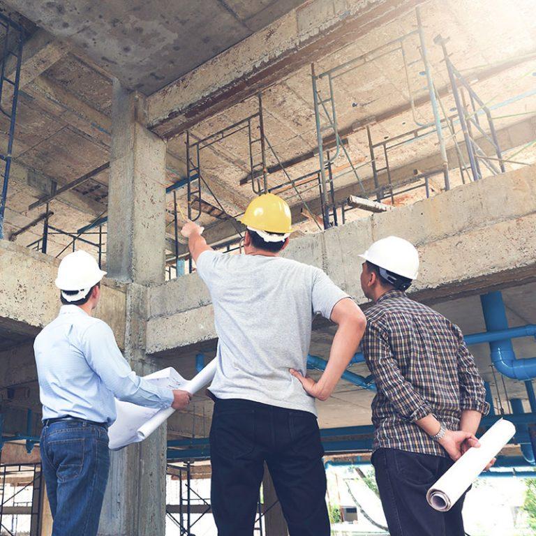 Baustellenbesichtigung - Immobilien bei der C&P